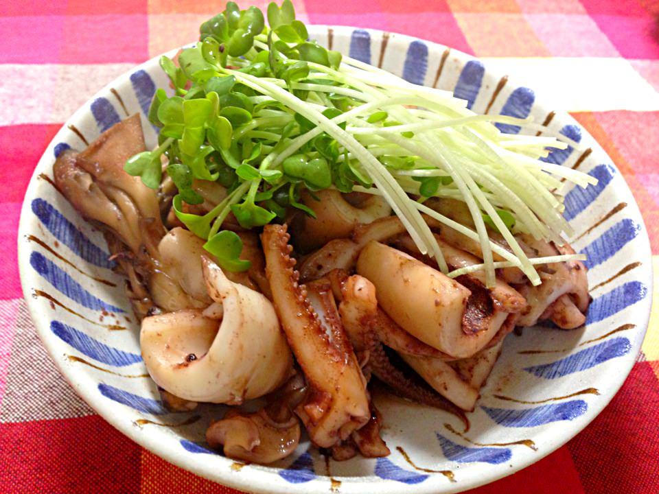 イカと舞茸の醤油バター☼