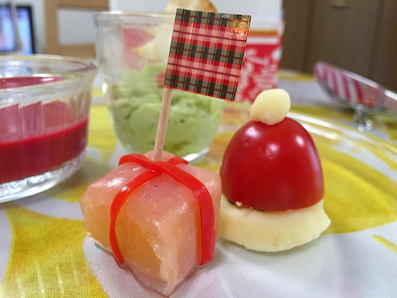 ☆クリスマス☆サンタ帽子と生ハム
