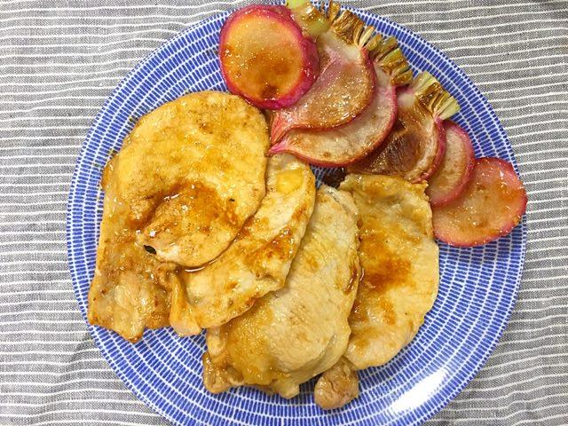 豚肉とかぶの生姜焼き❀