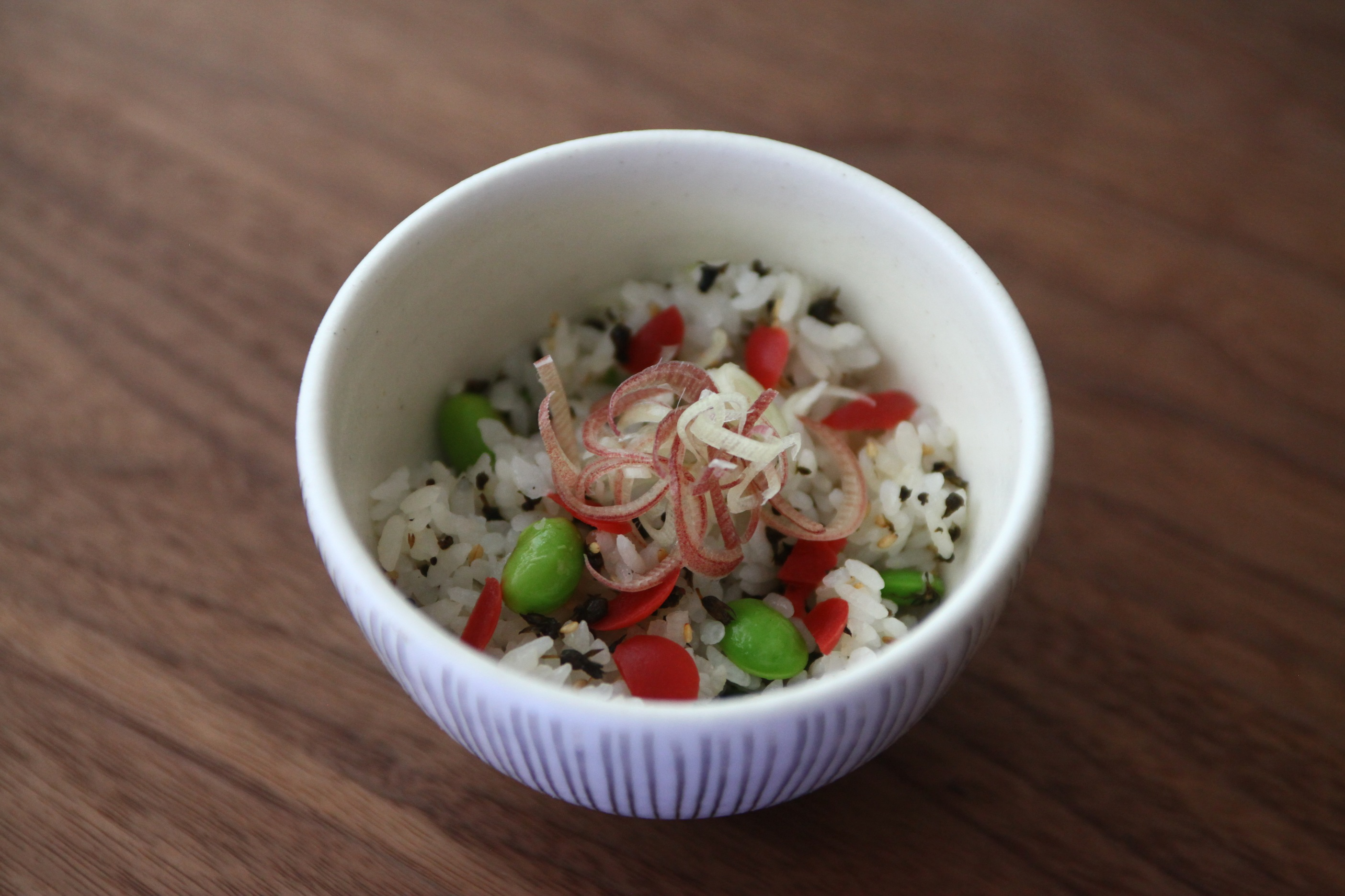 枝豆とカリカリ梅の混ぜごはん