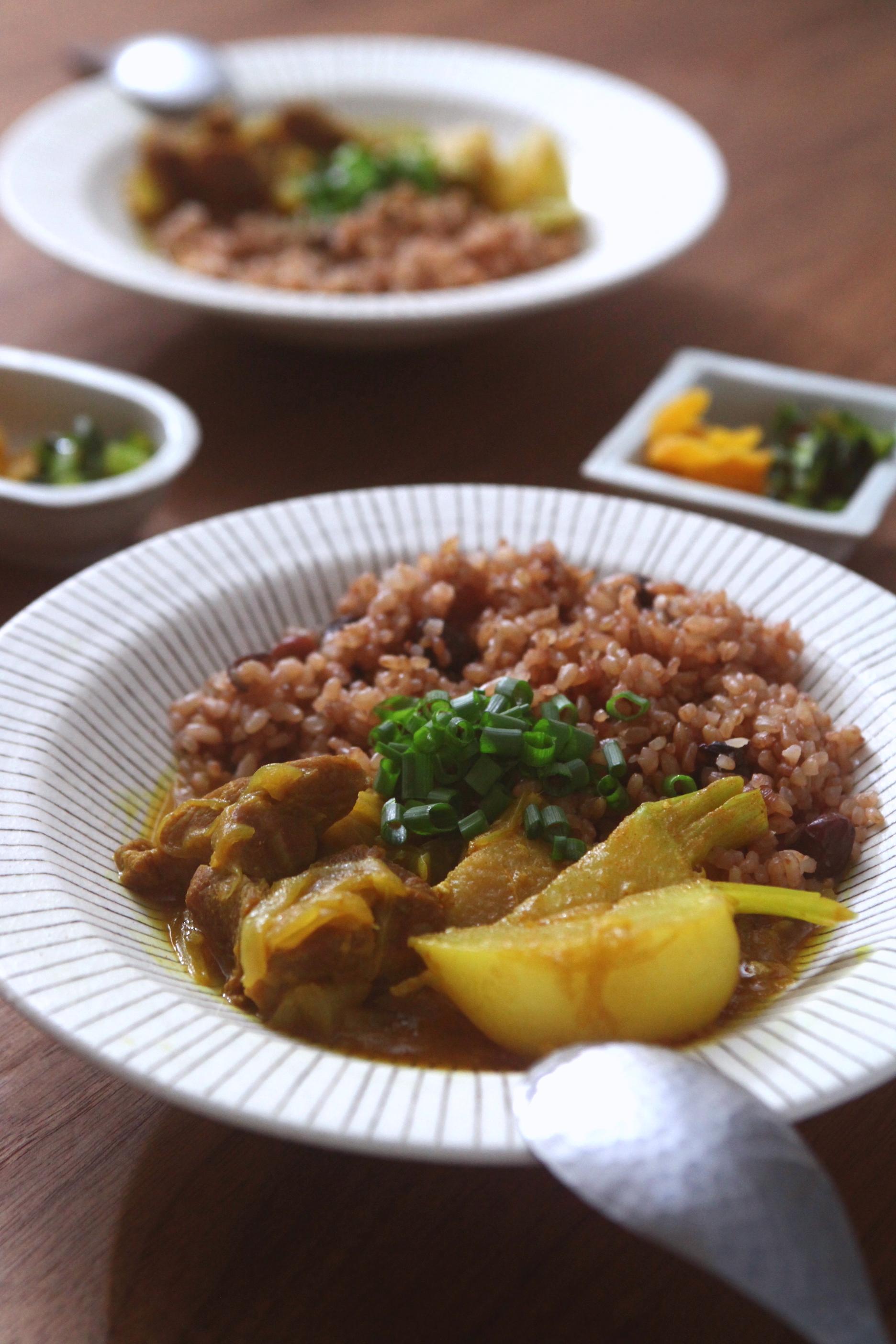 カブと豚肉の和風カレー