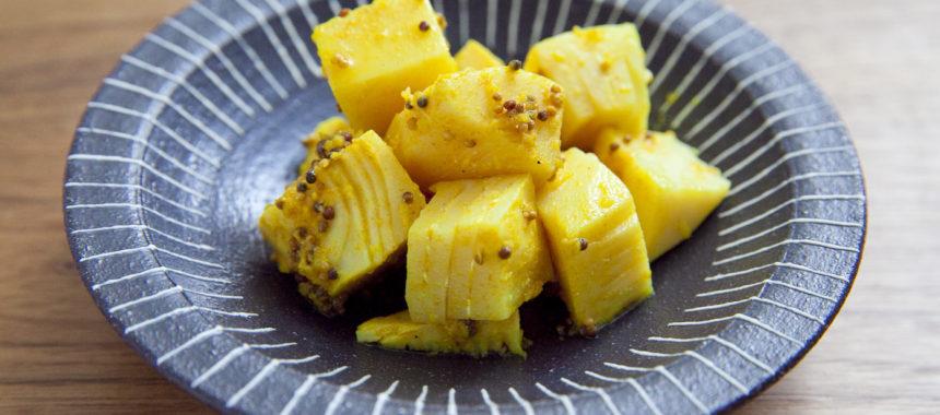 筍のアチャール(インドの漬物)