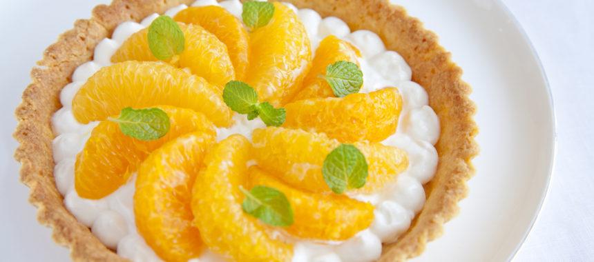 ヘルシーな柑橘タルト