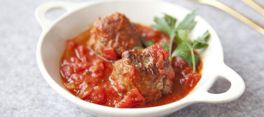 【糖質控えめ】肉感たっぷりミートボールのトマト煮