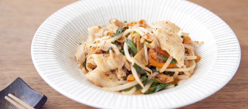 【「カルピス」レシピ】野菜たっぷり豚キムチ