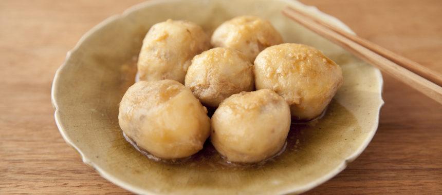 AllAbout記事公開!レンジで皮むき楽らく!里芋の煮物