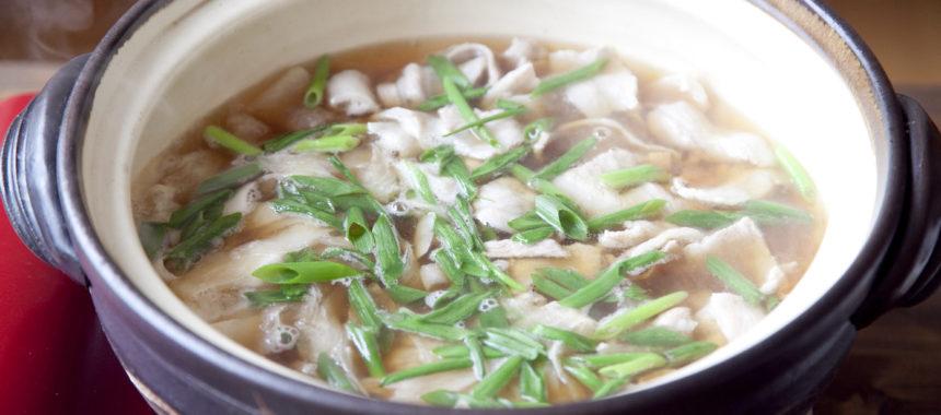 大根と豚バラ肉のシンプル鍋