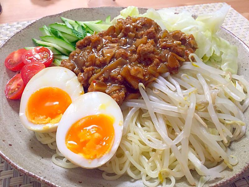 野菜たっぷりジャージャー麺☼