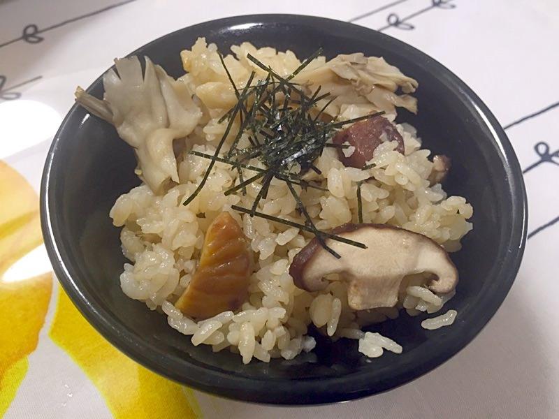 秋❀土鍋できのこと栗の炊き込みごはん❀