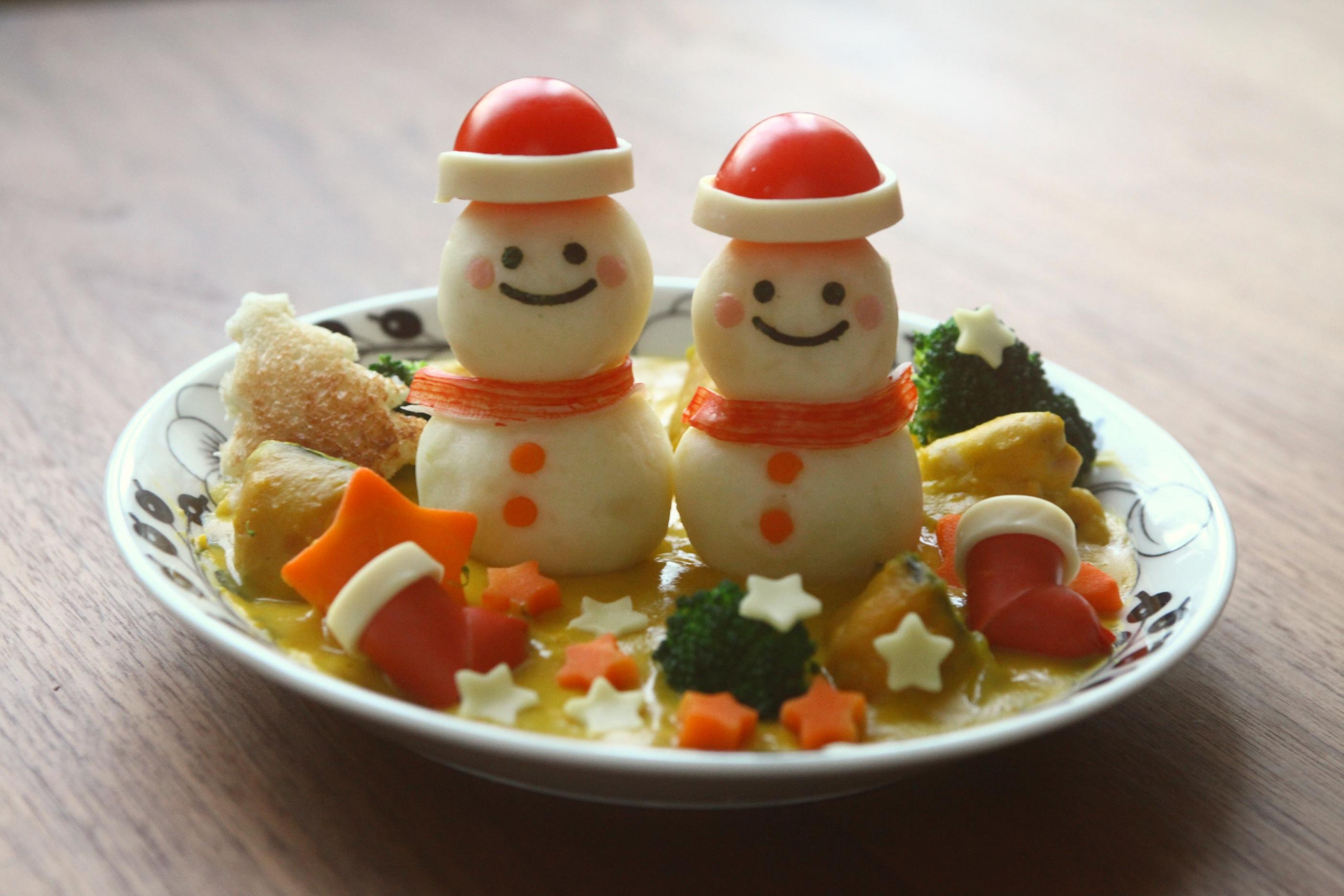 シャポー船橋食品感謝祭「雪だるまのかぼちゃシチュー」