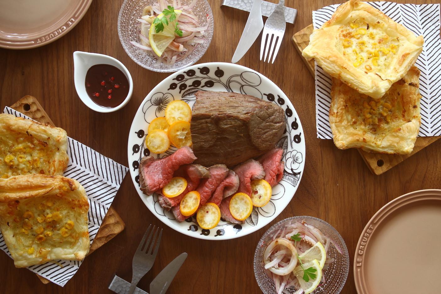 「オトコノキッチン」バレンタインの食卓!チョコレートソースと金柑のローストビーフ