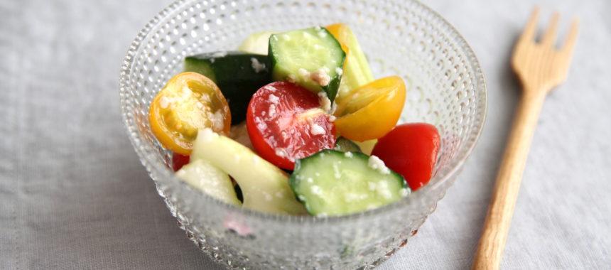 【発酵の日レシピ】夏野菜の生塩糀マリネ