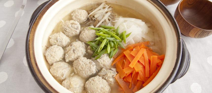 ごぼう入り鶏団子と根菜の「発酵美腸鍋」