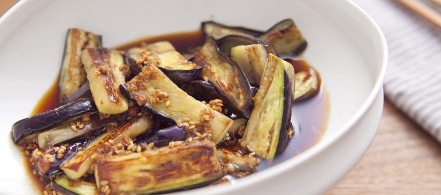 よだれ鶏のタレで!中華風なすの焼き浸し