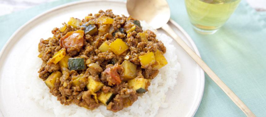 AllAbout記事公開!暑い日でも手軽に作れる!夏野菜たっぷりキーマカレー