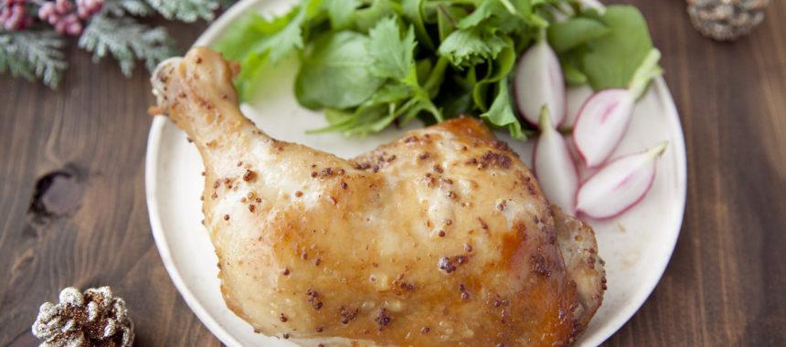 【糖質控えめ】漬け込めばオーブン任せ!簡単ローストチキン