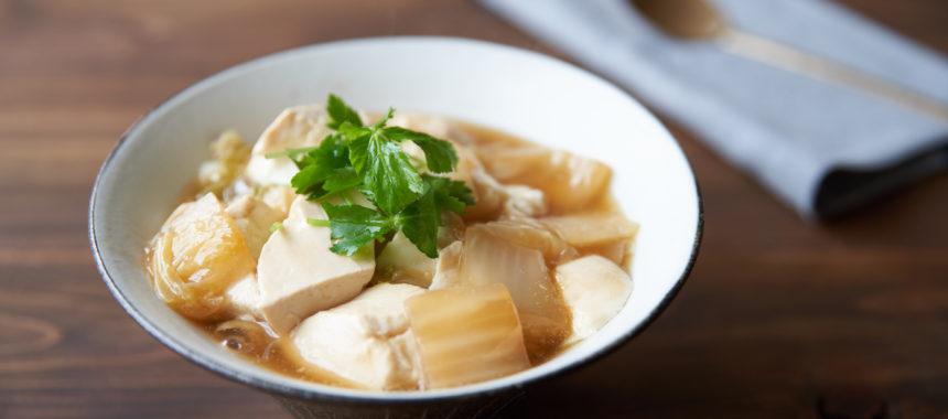 くたくた白菜と豆腐のあんかけ丼
