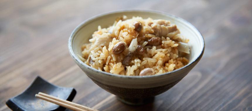 【節分豆使い切り】大豆と鶏ごぼうの炊き込みごはん