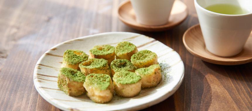 【糖質控えめレシピ】お麩の抹茶ラスク