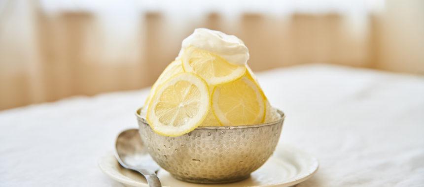 【「カルピス」レシピ】レモンヨーグルト氷