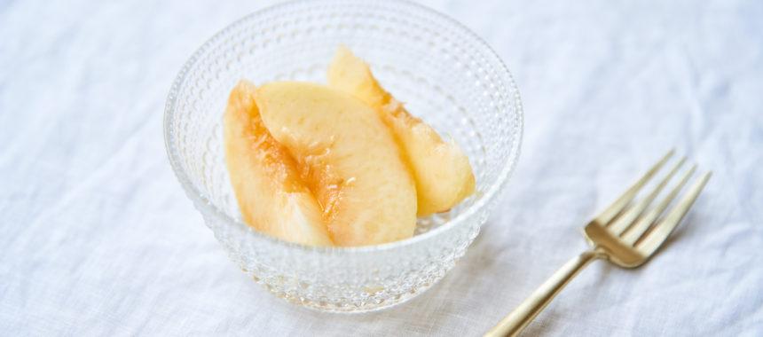実を潰さない、桃のむき方・切り方