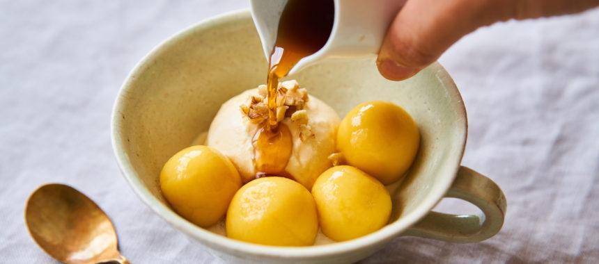 かぼちゃのお豆腐白玉