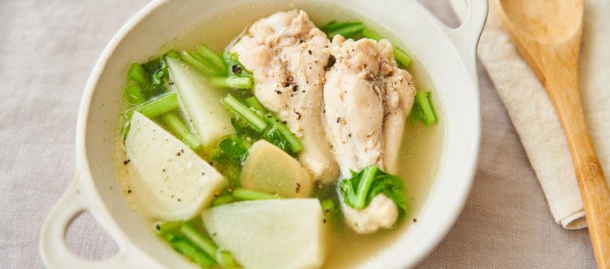 【糖質控えめレシピ】鶏手羽のジンジャースープ