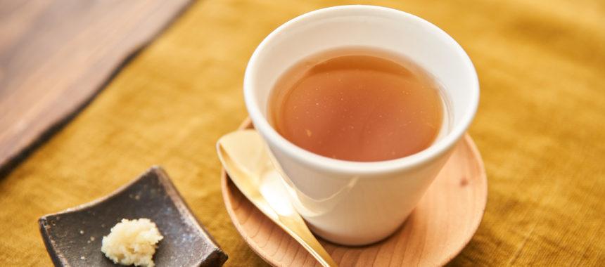 【「十六茶」レシピ】すぐできる、ホット生姜茶