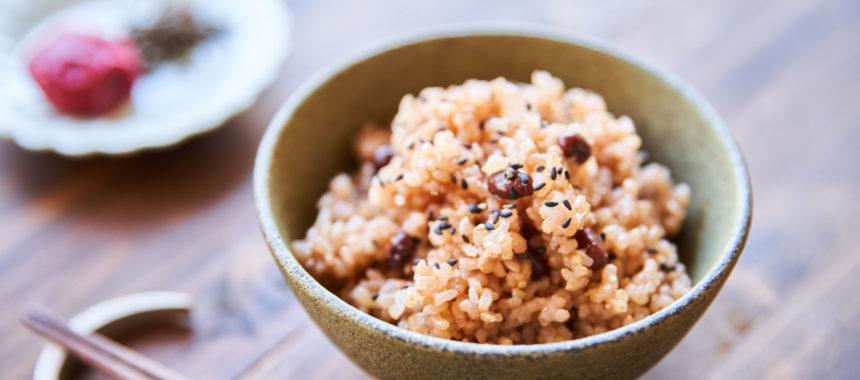 塩麹入り、寝かせ玄米