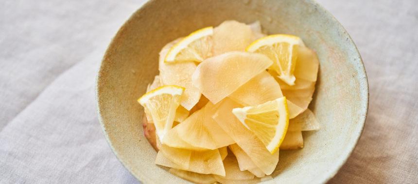 ヤーコンのレモンマリネ