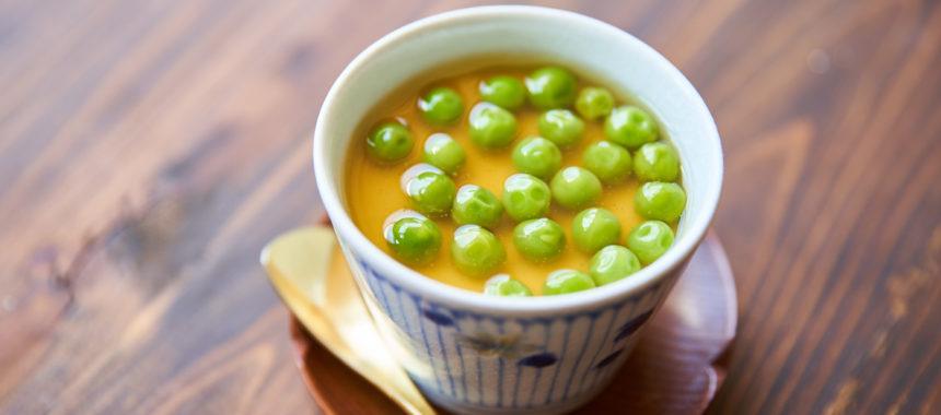 春豆あんの茶碗蒸し(グリーンピース茶碗蒸し)