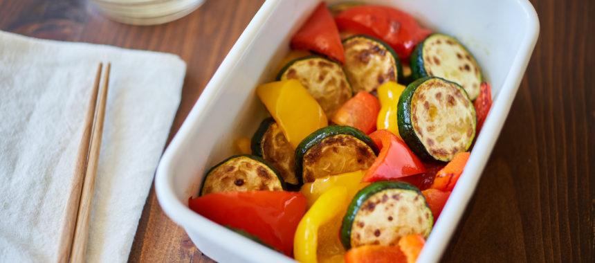 【糖質控えめレシピ】夏野菜の焼きマリネ