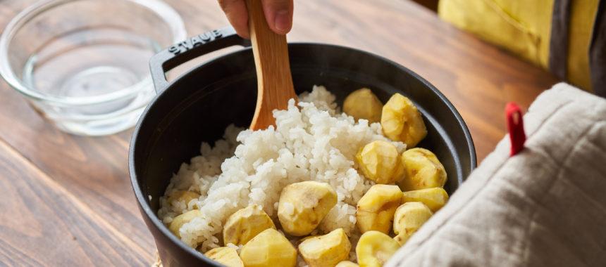 お鍋で簡単おいしく、栗ごはん(栗ご飯)