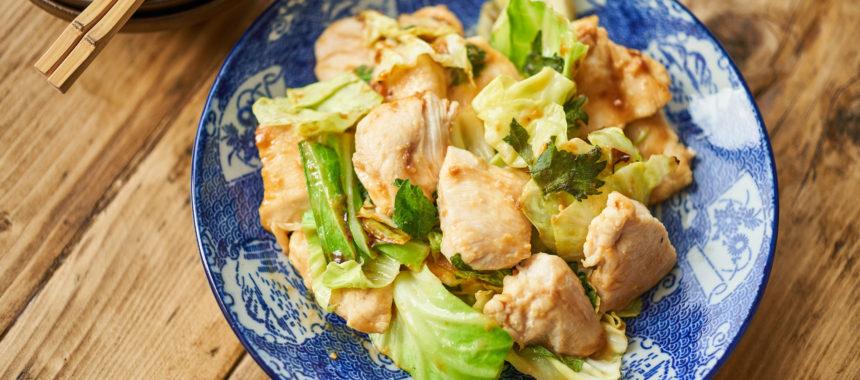 【糖質オフレシピ】鶏むね肉とキャベツのみそ炒め