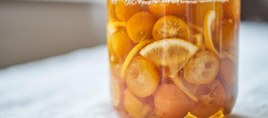 金柑とレモンのはちみつ漬け