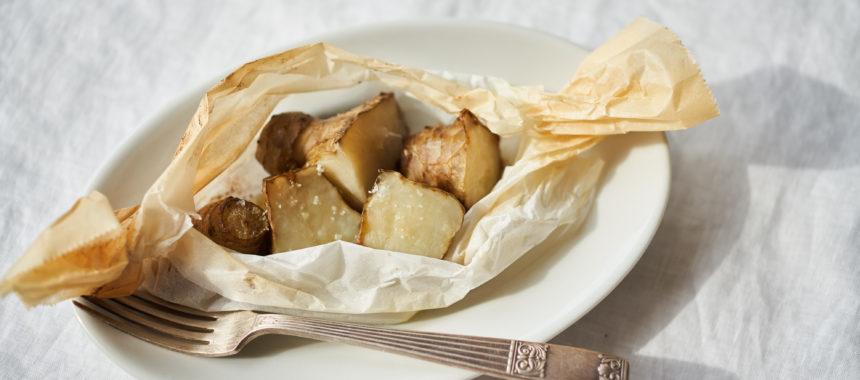 菊芋の包み焼き(菊芋のホイル焼き)