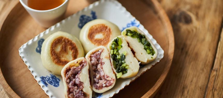 【もちもち偏愛レシピ】あんバターおやきと野沢菜おやき