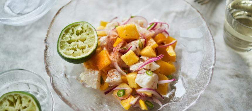 【ELLE gourmetレシピ】白身魚とマンゴーのセビーチェ