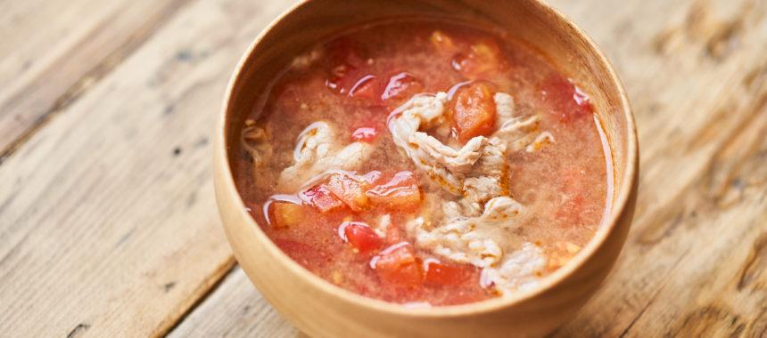トマト豚汁
